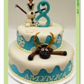 356. Marcipánový dort  – Olaf se Svenem z ledového království