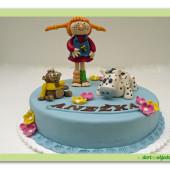 370. Pipi punčochatá – marcipánový dort
