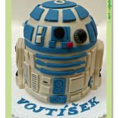 360. R2D2 marcipánový modelovaný dort Star Wars