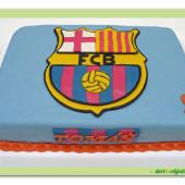 373. FC Barcelona marcipánový dort