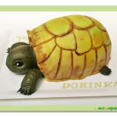 376. Želva – marcipánový dort 3D