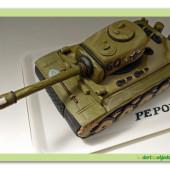 587. Tank Tiger – marcipánový dort 3D