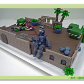 407. COUNTER – STRIKE   marcipánový dort  na motivy PC hry