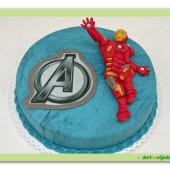 384. Avengers – Iron Man  – marcipánový dort s ozdobou