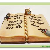408. KNIHA KOUZEL  marcipánový dort