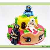 405. Ninjago lego marcipánový dort