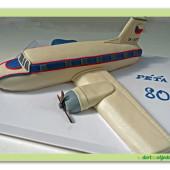 394. Letadlo – marcipánový dort 3D