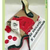 396. Lodičky s krabicí – marcipánový dort