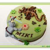 403. Rytíř s drakem, marcipánový dort