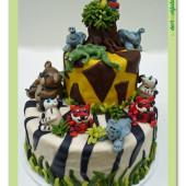 591. SAFARI marcipánový dort patrový