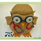 390. Doktorka SOVA – marcipánový 3D dort
