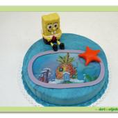 386. Sponge Bob  – malý marcipánový dort