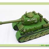 383. Tank 3D – marcipánový dort