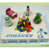 382. Žížaláci – marcipánový dort