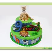 378. ZOO – marcipánový dort se zvířátky