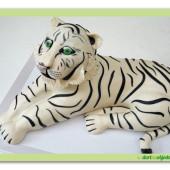418.  Modelovaný dort 3D – Bílý tygr
