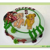 422. Lví král – marcipánový dort