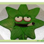 "414. Marcipánový dort ""crazy marihuana"""