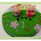 434. Marcipánový dort prasátko Pepina a Pepa