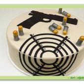 433. Marcipánový dort –  Střelecký terč