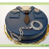 432. Marcipánový dort – Policejní uniforma