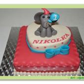 459. Narozeninový dort se slonem pro štěstí