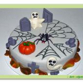 451. Marcipánový duchařský dort – halloweenský