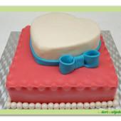 456. Marcipánový dort srdce k dekoraci WooW