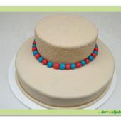 455. Marcipánový dort kulatý patrový k dekoraci WooW