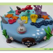 442. Potápěč – marcipánový dort na téma potápění