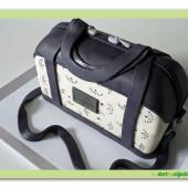 465. Kabelka Valentine – marcipánový modelovaný dort 3D