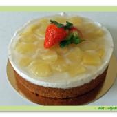 468. Ananasový veganský dort