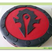 466.  Warcraft – marcipánový dort s dekorem