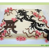 482. Marcipánový dort s japonskými motivy