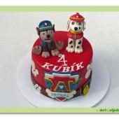 483.Paw patrol – marcipánový dort s psí patrolou