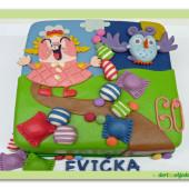 488. Marcipánový modelovaný dort Candy crush saga