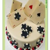 491. Pokerový marcipánový dort
