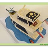 490. Marcipánový modelovaný dort – Jachta