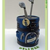 493. Marcipánový modelovaný dort – Golfový bag