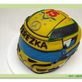 501. Marcipánový modelovaný dort – Motoristická helma