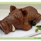 506. Divočák – marcipánový modelovaný dort