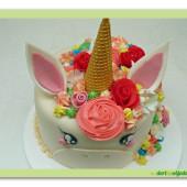 509. Marcipánový dort  Jednorožec