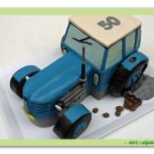 512.Marcipánový dort 3D  Traktor – Zetor