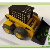 538. Bagr – marcipánový 3D dort