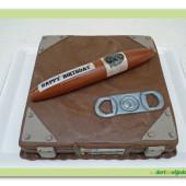 530. Humidor – marcipánový dort