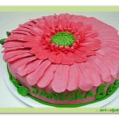 523. Marcipánový dort Gerbera