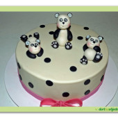 518. Marcipánový dort Pandy a puntíky