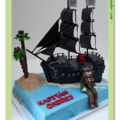 526. Marcipánový dort – Piráti z karibiku – Černá perla