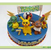 515. Marcipánový dort Pokemón s transparentem