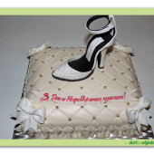 516. Marcipánový dort polštářek se střevíčkem